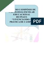 Anais Do i Simpósio de Psicologia Escolar Educacional Do Piauí
