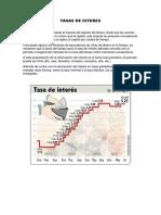 tasa de interés y flujo de caja