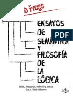 Gottlob Frege - Ensayo de Semantica y Filosofia de La Logica