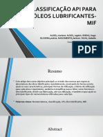 Classificação API Para Óleos Lubrificantes-mif