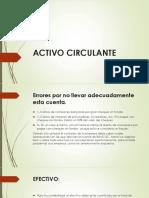 ACTIVO CIRCULANTE