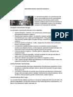 Contaminacion Del Agua en Cajamarca Ecologia