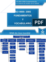 ISO 9000 2005 Fundamentos y Vocabulario