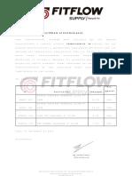 Certificado de Calidad- Termodinamica Sa