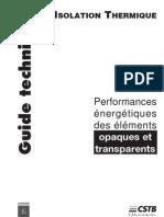 Thermique Du Batiment - RT2000 - Doc CSTB - Guide Technique
