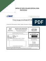 Recibo de Compra de Papel Sellado Para Protocolo
