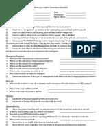 D3 Workplace Safety Orientation Checklist