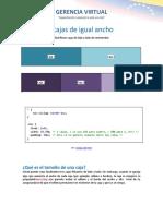 4 Cajas de Igual Ancho en CSS