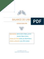Lab 8 Balance de Linea