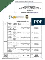Agenda - Electronica Analoga - 2018 II Periodo 16-04 (Peraca 474)