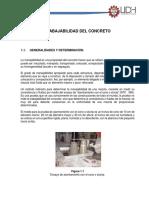 trabajabilidad de la mezcla de concreto