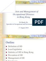 Prevention and Management of Occupational Diseases in Hong Kong