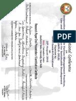 Certificate - Humanities