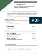 Shivam Walia Latest Resume - Copy