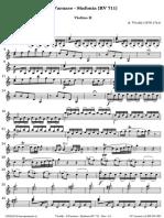 Sinfonia Da Farnace RV 711 Di Vivaldi Violino II
