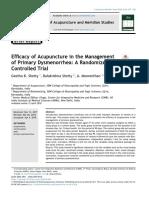 Brief Report on Acupuncture Dismenorrhea randomized study.