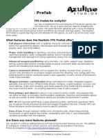 !Realistic FPS Prefab Documentation