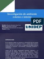 iNVETIGACION DE AMBIENTE EXTERNO E INTERNO