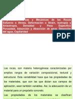 3º CLASE - PROPIEDADES FÍSICAS Y MECÁNICAS  DE LAS ROCAS.ppt