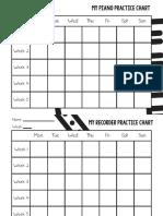 Piano & Recorder Practice Chart