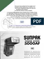 User Manual Sunpak 5000AF speedlight flash
