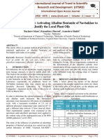 Creating a Method for Activating Alkaline Bentonite of Navbakhor to Justify the Local Plant Oils