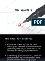 4 Chapter 8-Criteria and Validity