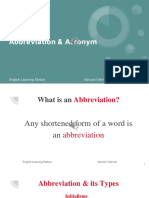 Abbreviation and Acronym