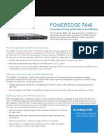 Poweredge r640 Spec Sheet