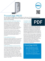 Dell PowerEdge M630 SpecSheet