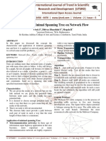 A Study on Minimal Spanning Tree on Network Flow