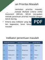 Penentuan Prioritas Masalah Dan Tabel MCUA