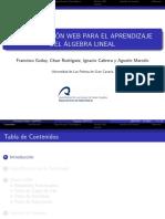APLICACIÓN WEB PARA EL APRENDIZAJE DEL ÁLGEBRA LINEAL