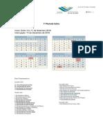 Calendário Escolar e Dias Comemorativos 2018-2019