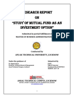 Study of mutual fund as an.docx