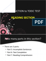 Introduction to Toeic Test