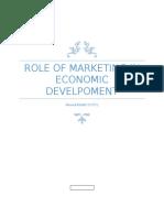 Role of marketing in economic development