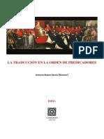 La Traducción en La Orden de Predicadores (BOLONIA) - Antonio Bueno García, Director