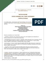 Notificazione - Santa Messa e Canonizzazione (14 Ottobre 2018)