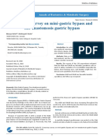 Consensus Survey on Mini Gastric Bypass and One Anastomosis Gastric Bypass