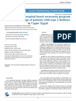 The Effect of a Hospital Based Awareness Program on the Knowledge of Patients With Type 2 Diabetes in Upper Egypt