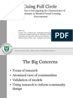 Going Full Circle Approaches to Investigating the Characteristics of Community in Blended Formal Learning Environments