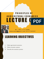Principles of Agricultural Economics Lecture 1 by  Mr Simbarashe Dube