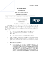 Amendment to the Agricultural and Processed Food Products Export Development Authority, Rules, 1998