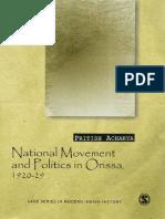 National Movement and Politics in Orissa, 1920–29 by Pritish Acharya