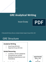 GRE Analytical Writing - Issue Essay