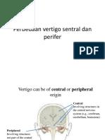 Perbedaan Vertigo Sentral Dan Perifer