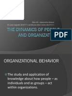 Dynamics of People and Organizations