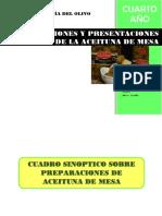 Procedimientos y Presentaciones de La Aceituna de Mesa