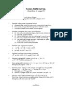Tugas Matematika Kelas x